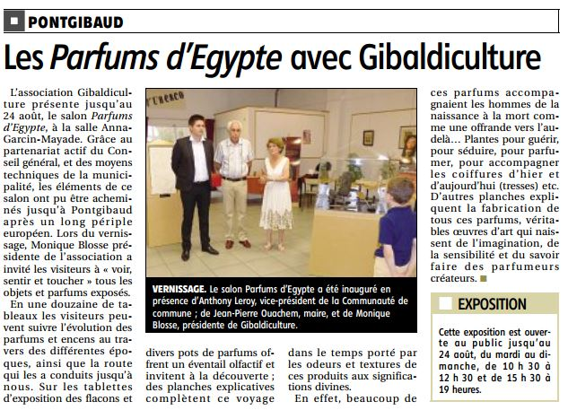 Article Egypte